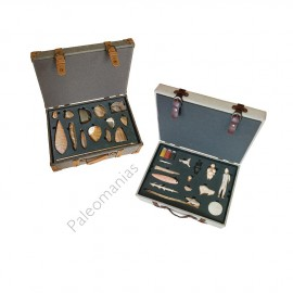 Archeology educational box. Paleolithic