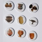 Chapas e Imanes. Serie cerámica