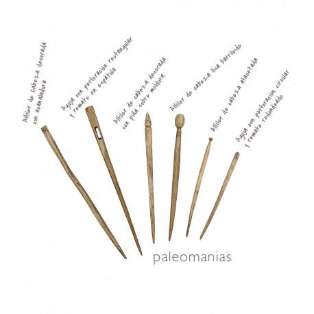 Conjunto de agujas y alfileres romanos