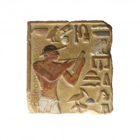 Bajo relieve egipcio tumba escriba Mery