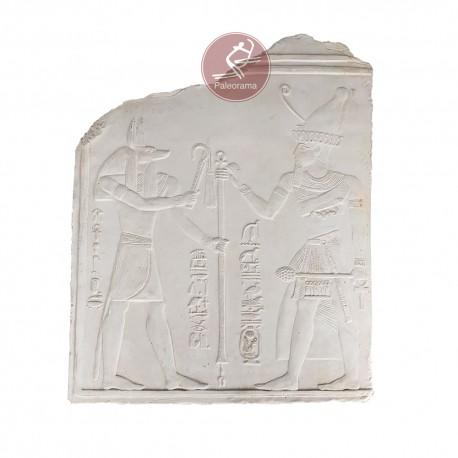 Escayola relieve faraon Seti I