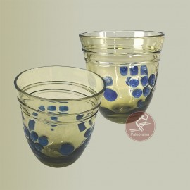 Vidrio romano. Vaso decorado