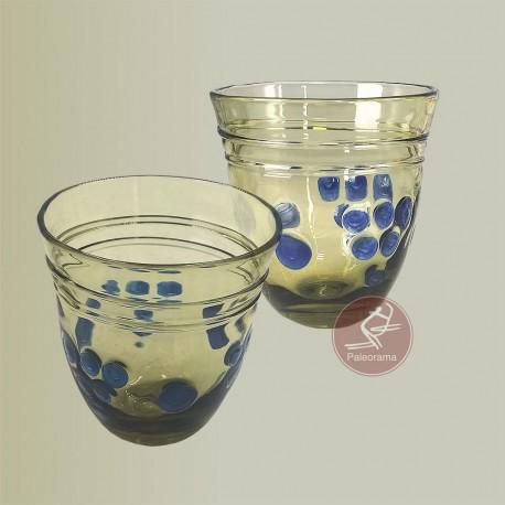 Vidrio romano. Vaso decorada
